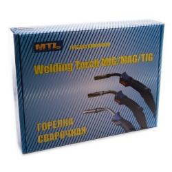 Горелка аргонодуговая TIG WP-17 FXV (150A, 4m, кнопка, вентиль, гибкая)