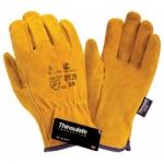 Спилковые утепленные перчатки Siberia 0128 3M Thinsulate